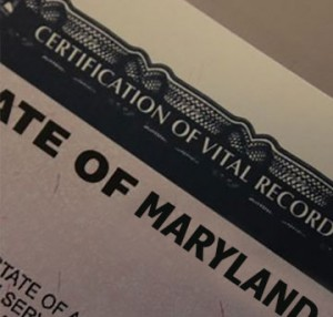 maryland death certificates how to get